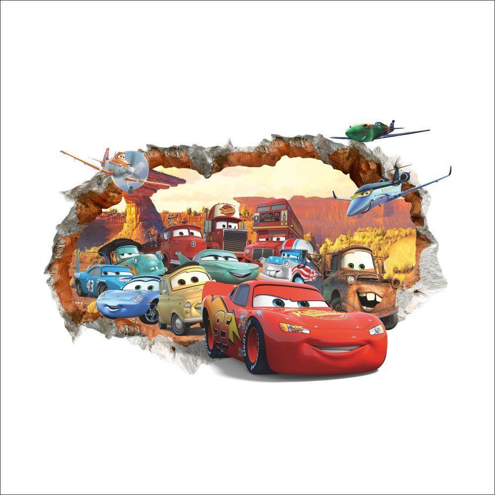Autozimmer Disney Cars Wandtattoo für das Kinderzimmer