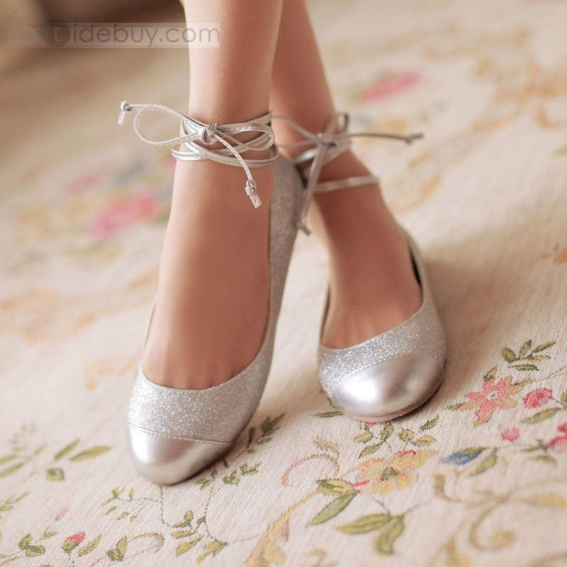 New Fashion Grace Silver Ballet Flats