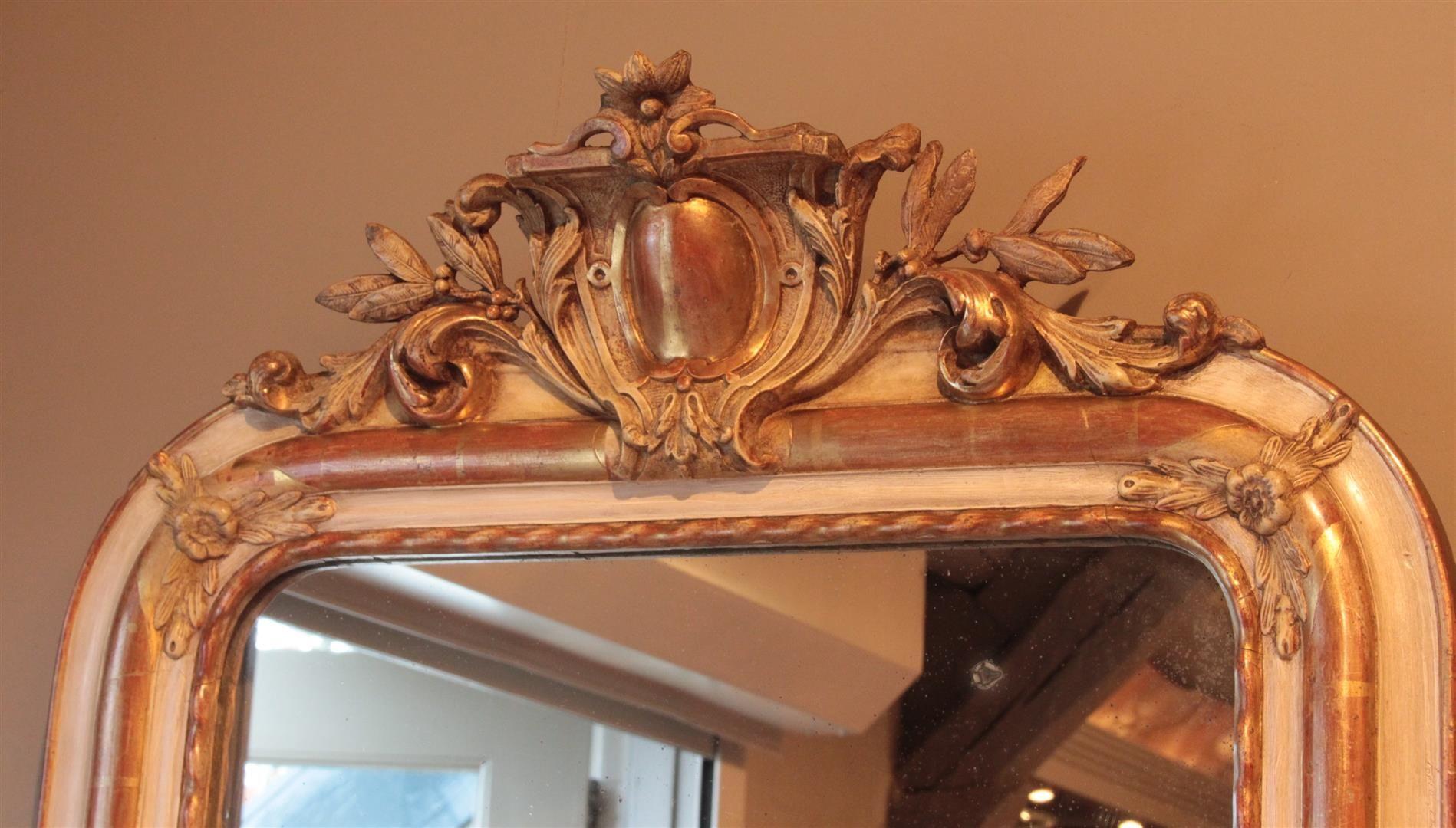 Vintage Badkamer Spiegel : Antieke franse spiegel frankrijk ± 1860 19e eeuw