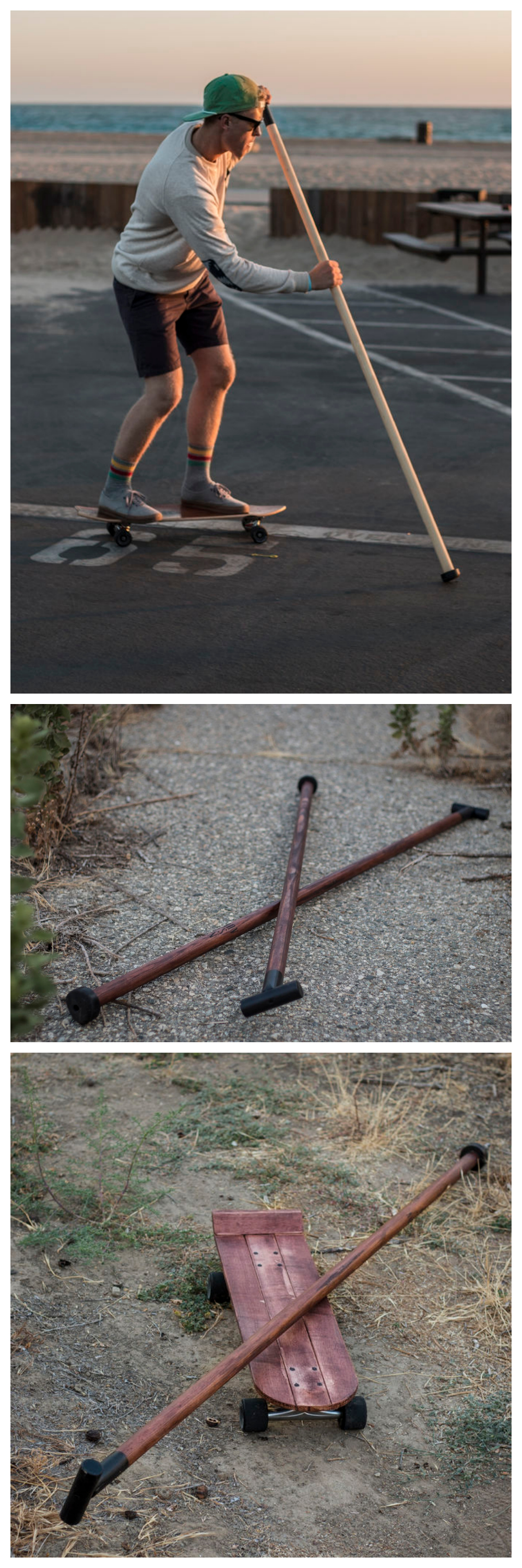 Land Paddle #outdoors #summer #activity #woodworking #skateboard #longboard