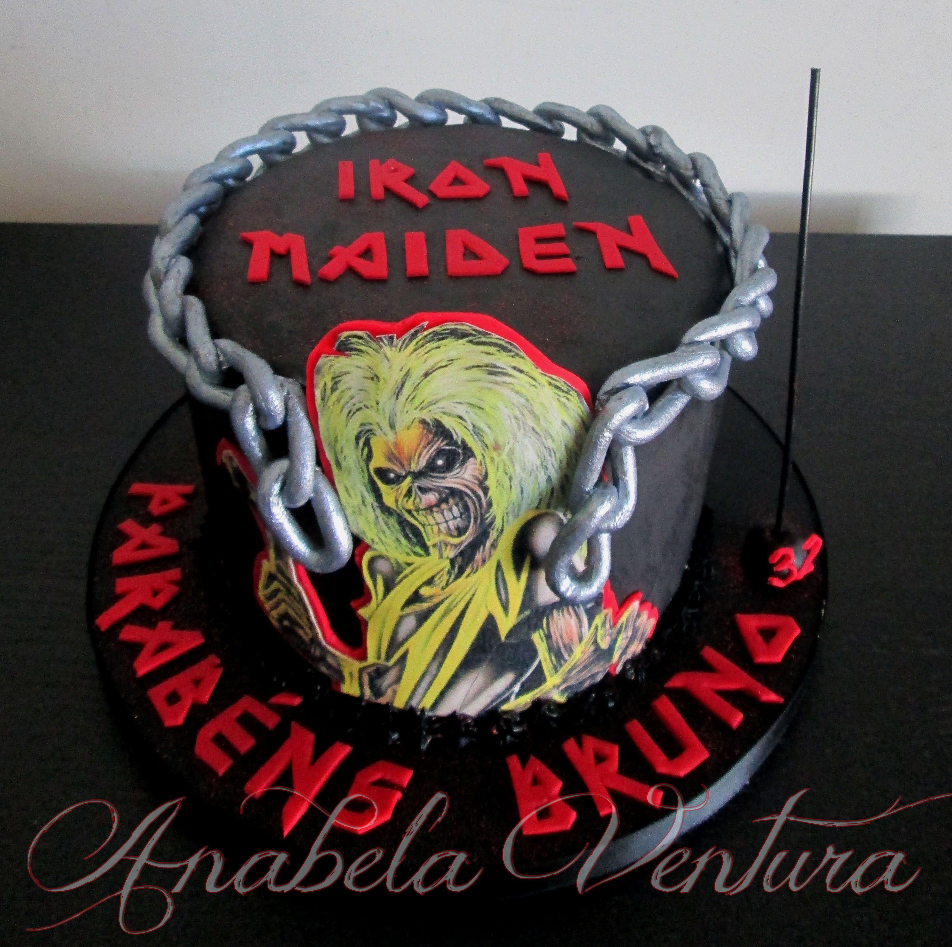 Iron Maiden Birthday Cake
