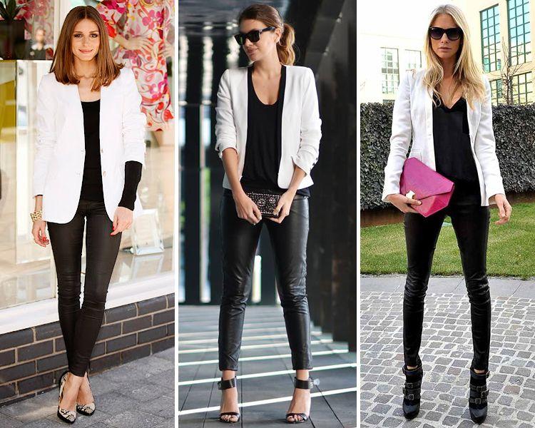 Combinar chaqueta color negro