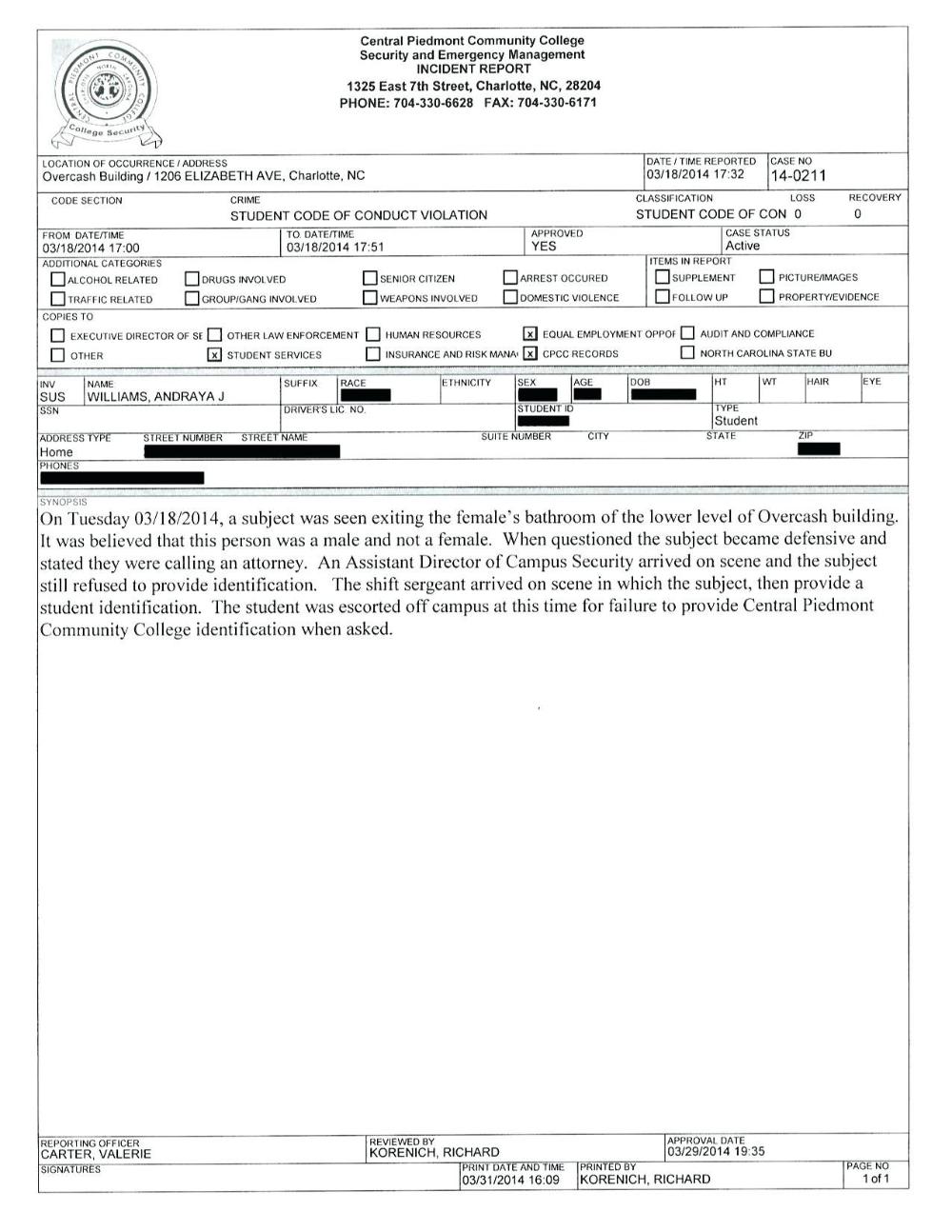 Security Incident Report Sample Template Uk Guard Pdf