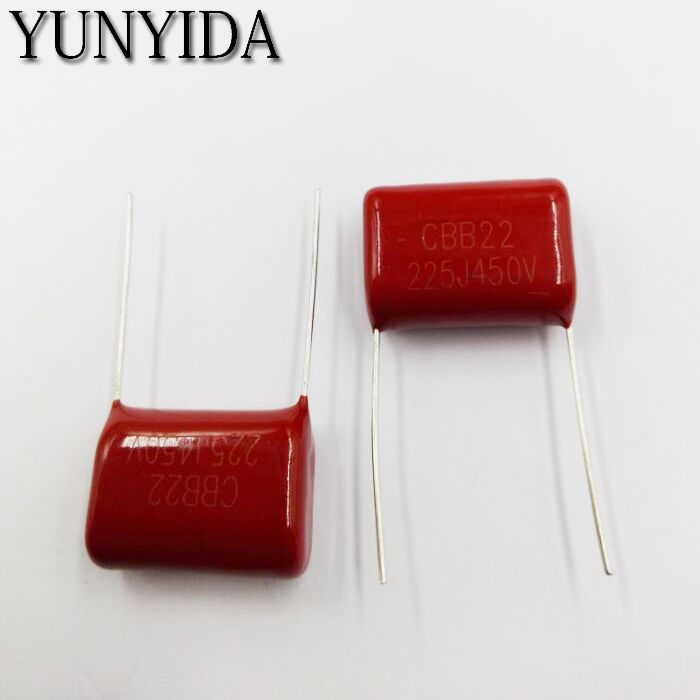 Free Shipping 10pcs 450v 225j 2 2uf Cbb Polypropylene Film Capacitor Pitch 20mm 225 2 2uf 450v Capacitors Capacitors Electronic Accessories Capacitor