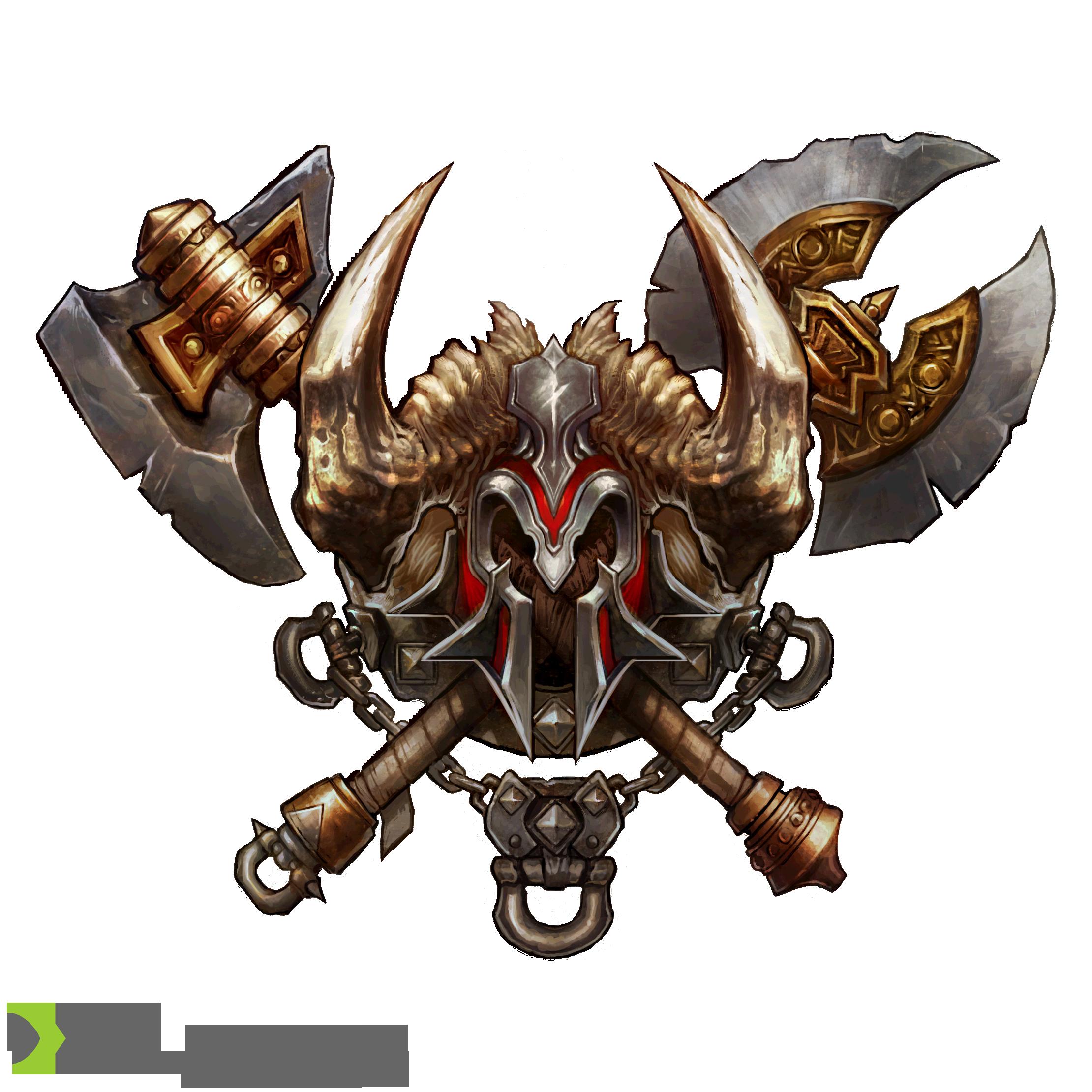 Diablo 3 Cutouts Barbarian Fantasy Logo Magical Art Barbarian