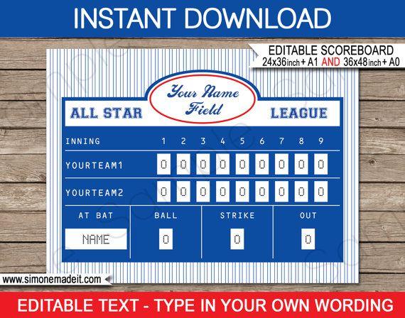 scoreboard templates
