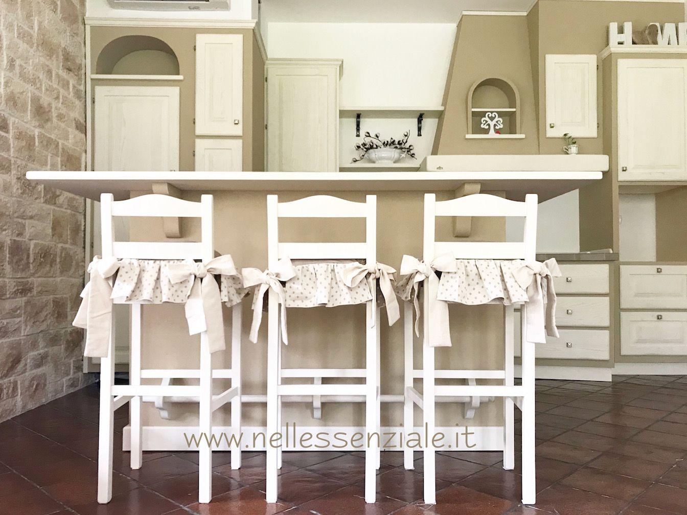 copri sedia cuscini per cucina open space in muratura la cucina in ambiente aperto con salotto e qui il country molto soft si sposa benissimo con le - Cucina Open Space