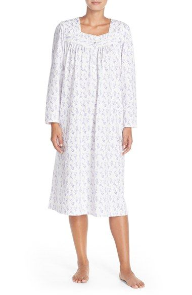 Eileen West 'Florent' Floral Print Nightgown