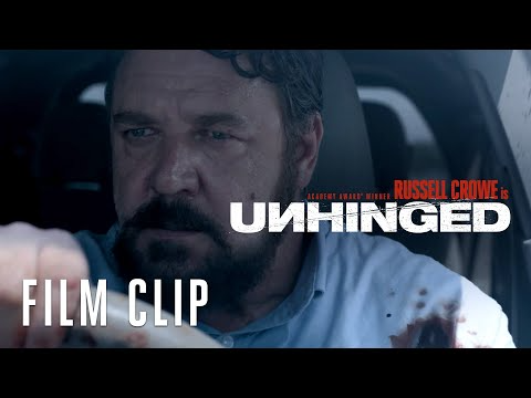 Unhinged 2020 A Case Of Road Rage Turns Into Full Blown Terror When An Unstable Driver Follows A Woman And Her Son Movie Clip Film Clips Road Rage