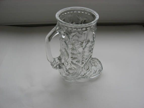 Glass Cowboy Boot Beer Mugvasedesk Caddylibby Of Canada