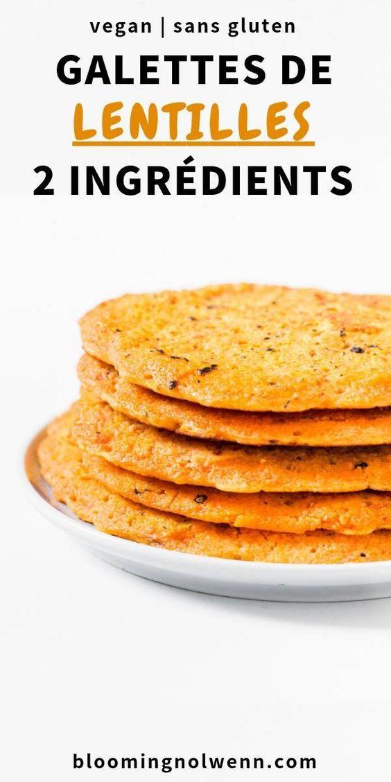 Galettes de Lentilles Corail | Vegan, 2 Ingrédients – Blooming Nolwenn