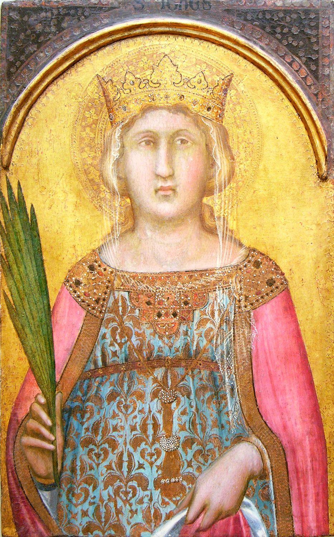 saint catherine of alexandria gothic Средневековое искусство