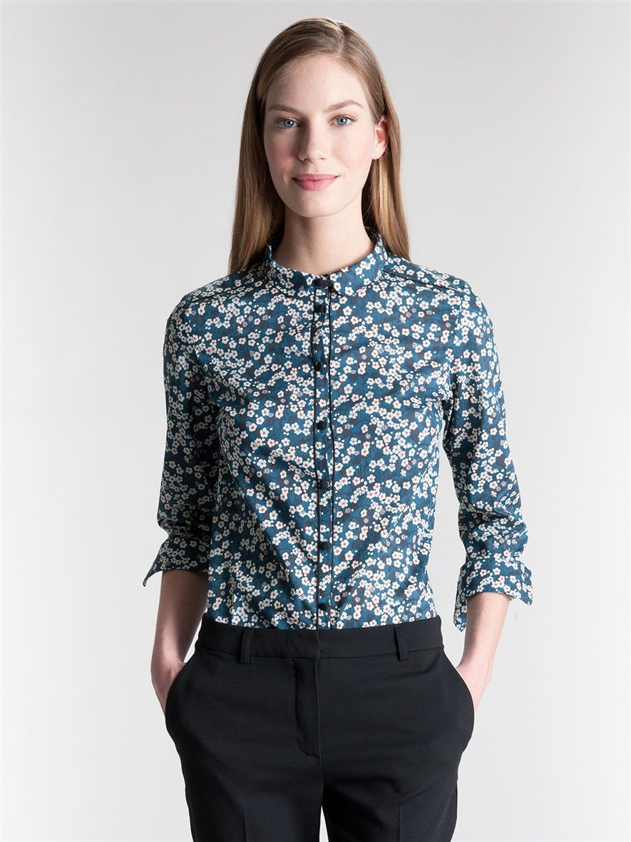 chemise femme liberty la femme vetement et d co cyrillus pour quand j 39 aurai perdu un os. Black Bedroom Furniture Sets. Home Design Ideas