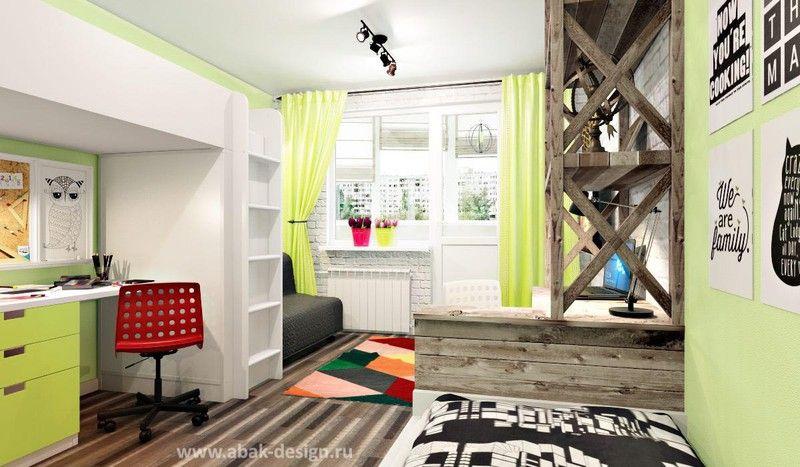 Готовые дизайн-проекты квартир в домах серии П-44Т - Двушка линейка - Комната 18,8 м2
