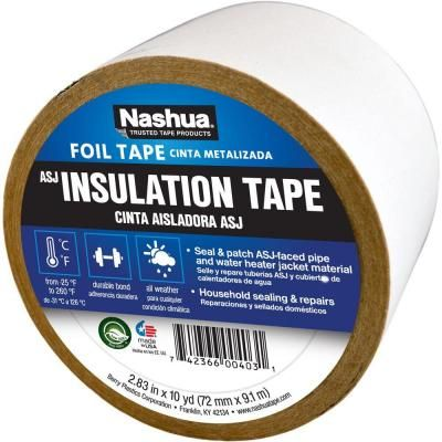 Nashua Tape 2 83 In X 10 Yd Asj All Service Jacketing Insulation Tape 1207784 The Home Depot Foil Tape Foil Insulation Tape