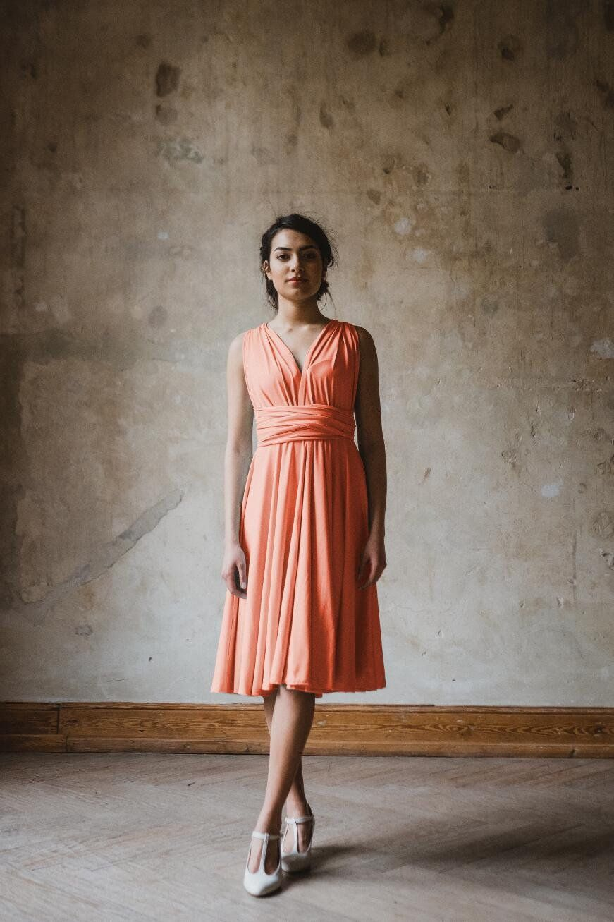 "Infinity Dress ""Primrose"" kurz Koralle – Ave evA  Kurze kleider"