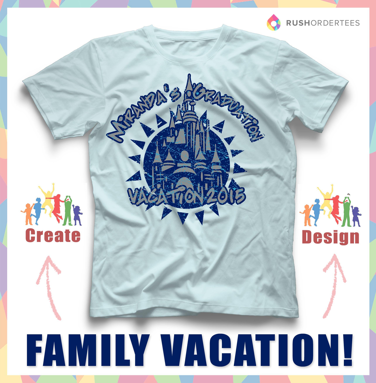Family vacation custom t-shirt design idea! Create a vacation t ...