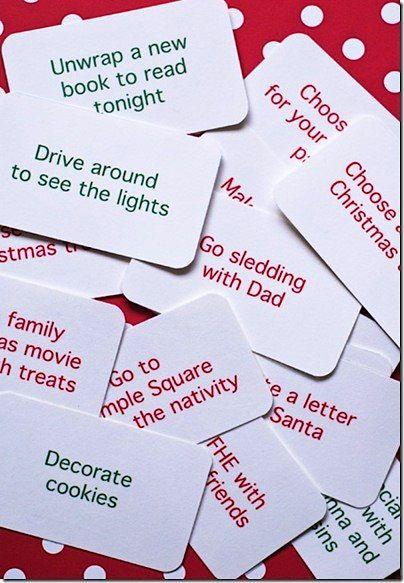 christmas countdown ideas do one idea each day during december - Christmas Countdown Ideas