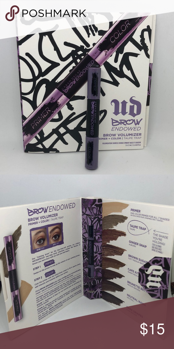 Urban Decay Brow Endowed Volumizer In Taupe Color Urban Decay Brow Endowed Volumizer In Taupe Color Primer And Color Taupe See Urban Decay Taupe Color Color