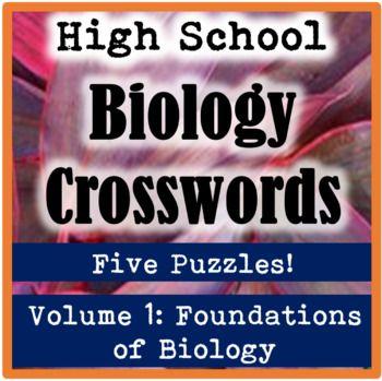 High School Biology Crossword Puzzles Volume 1 Foundations of - copy blueprint detail in short crossword clue