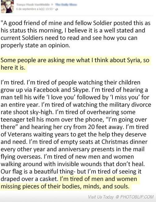 A Soldier's Perspective On Syria