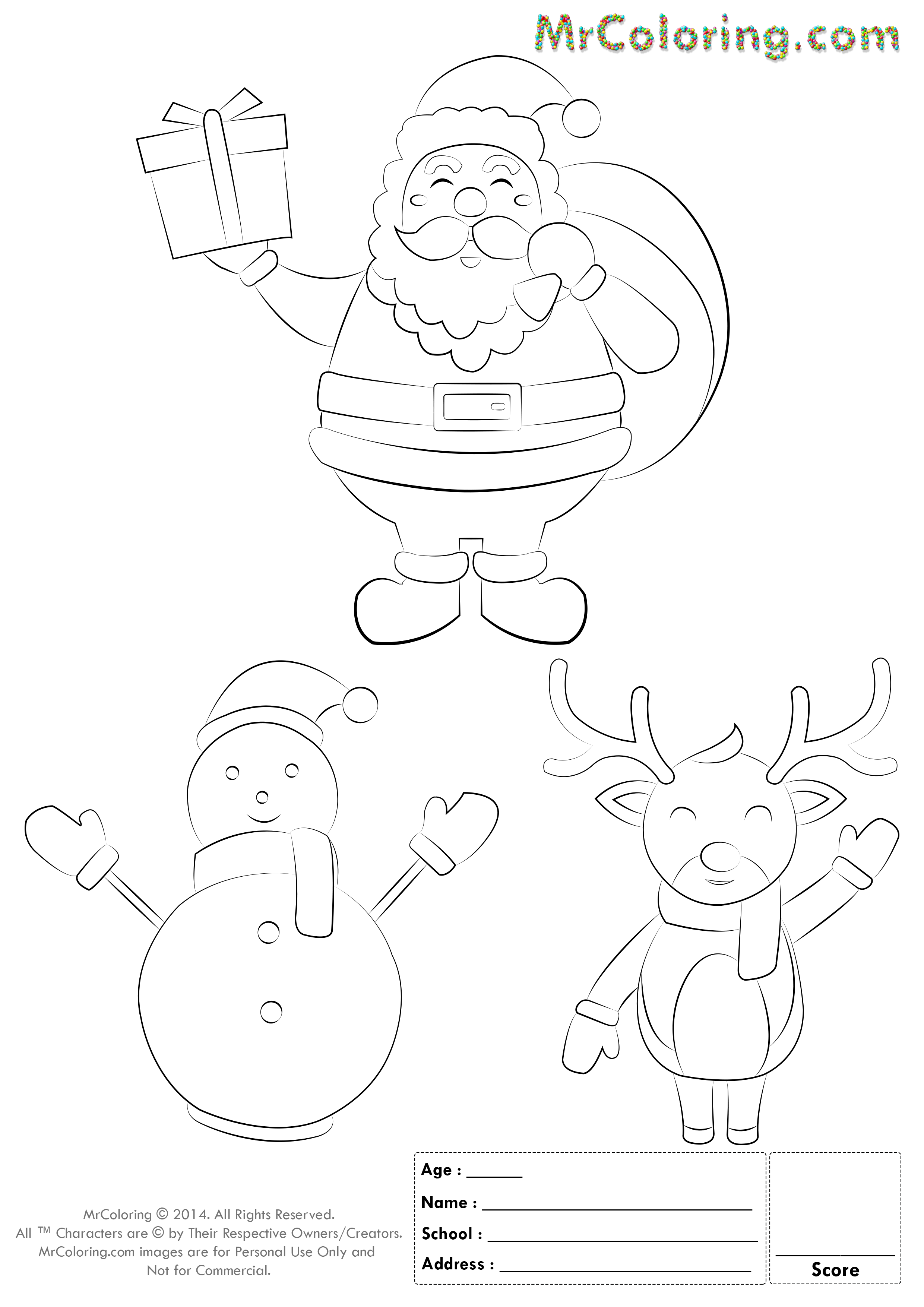 Christmas Coloring Pages Coloring Sheets Snowman