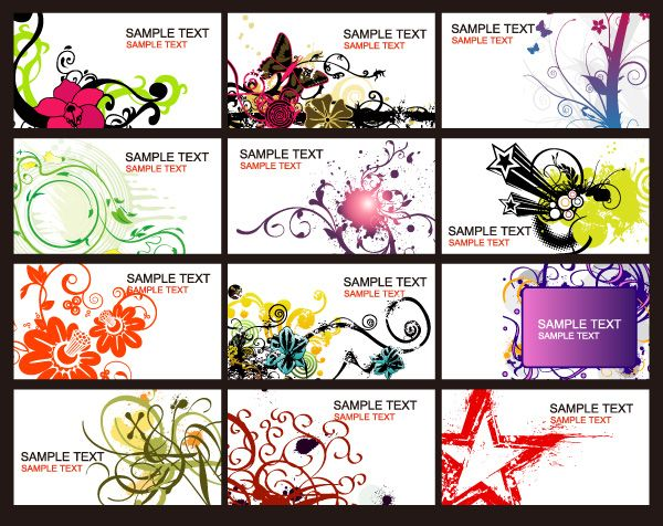 Pattern decorative business card face painting Pinterest - sample cards