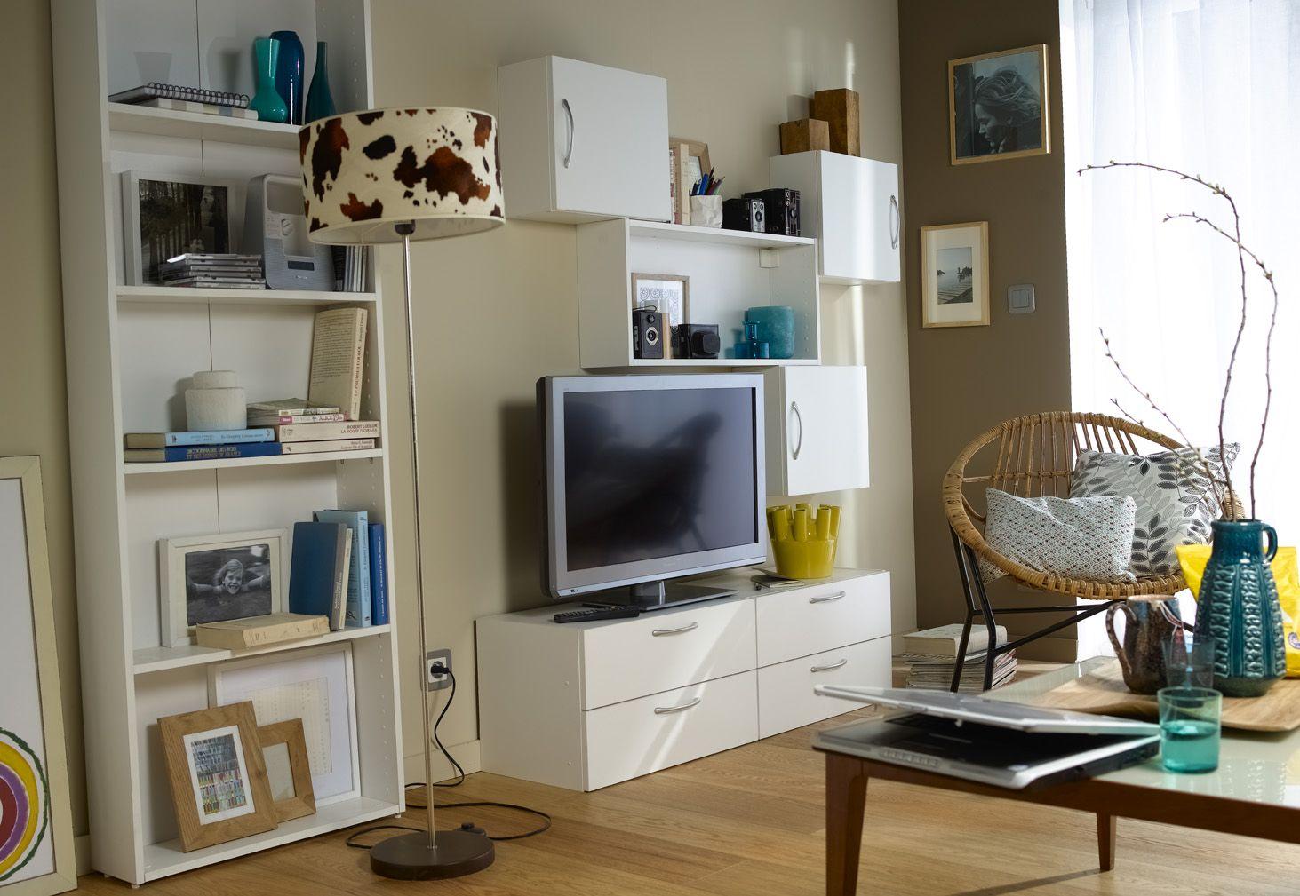 am nager et organiser son salon salon pinterest salon meuble de rangement et leroymerlin fr. Black Bedroom Furniture Sets. Home Design Ideas