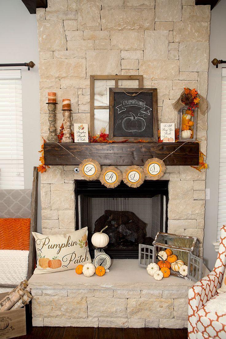 Diy Fall Mantel Decor Ideas To Inspire Fall Fireplace Decor