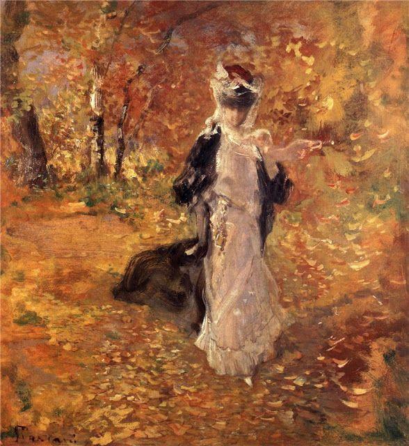 Pompeo Mariani (1857-1927), Automne. La Chute des Feuilles - 1906