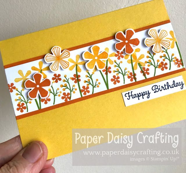 Paper Daisy Crafting: Flower meadow card - Take 2 - with Thoughtful Bloo...