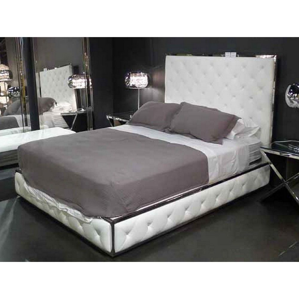 Nuevo Living Boxer King Size Platform Bed, White Or Black (HGTA957/HGTA956)