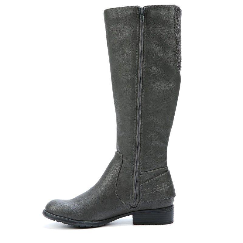 Lifestride Women's Xandy Narrow/Medium/Wide Riding Boots (Dark Grey) - 10.0