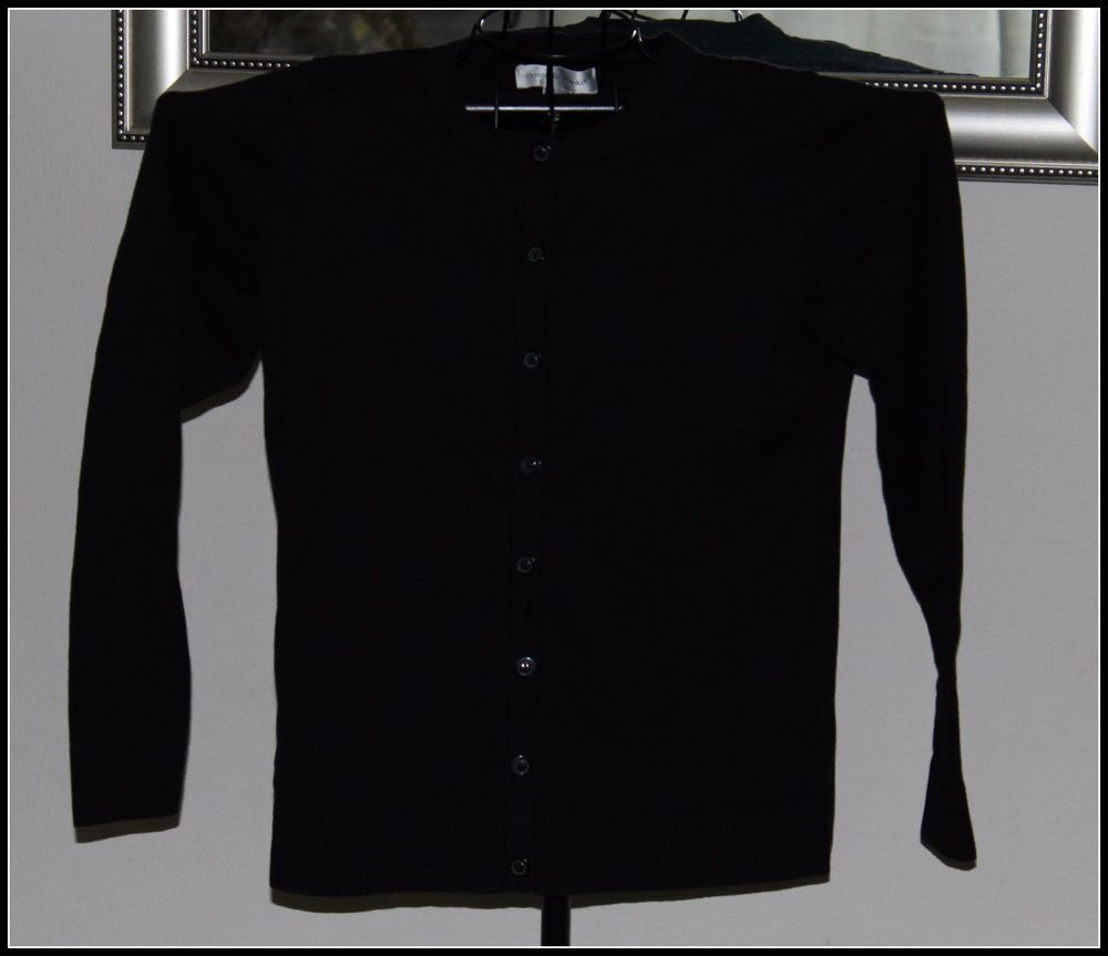 Womens sweater Christoper & Banks black button up size small professional look #ChristopherBanks #ButtonUp