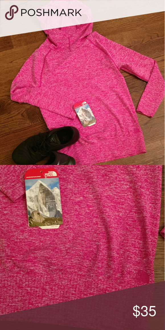 North Face Pullover Hot Pink. Cowl neck pullover. Great for the gym or yoga. Small. The North Face Sweaters Cowl & Turtlenecks