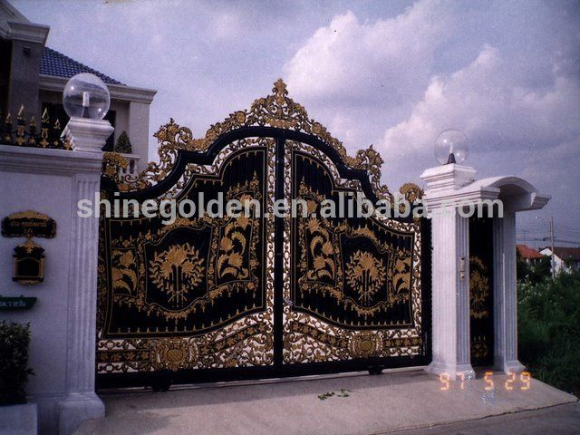 Gyd 15g0098 Fashion And Luxurious Villa Wrought Iron Main Gate Designs  Photo  Detailed about. Gyd 15g0098 Fashion And Luxurious Villa Wrought Iron Main Gate