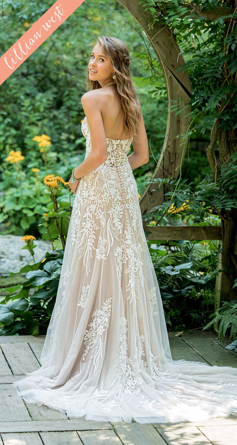 Style illusion lace halter aline wedding dress with sequins