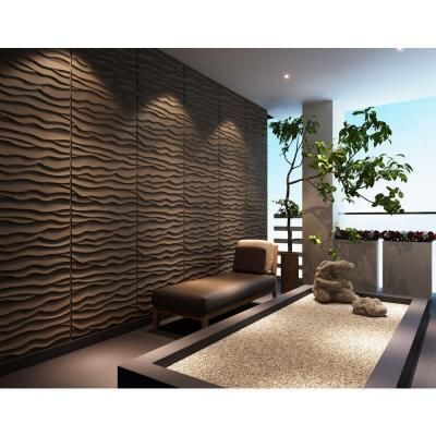 Threedwall 32 4 In X 21 6 In X 1 In Off White Plant Fiber Glue On Wainscot Wall Panel 6 Pack Ekb 02 115 Wall Paneling Textured Wall Panels 3d Wall Panels