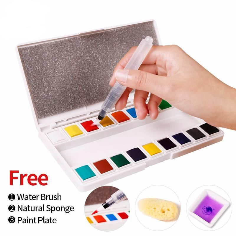 Solid Water Color Sets Watercolor Paint Set School Art Supplies