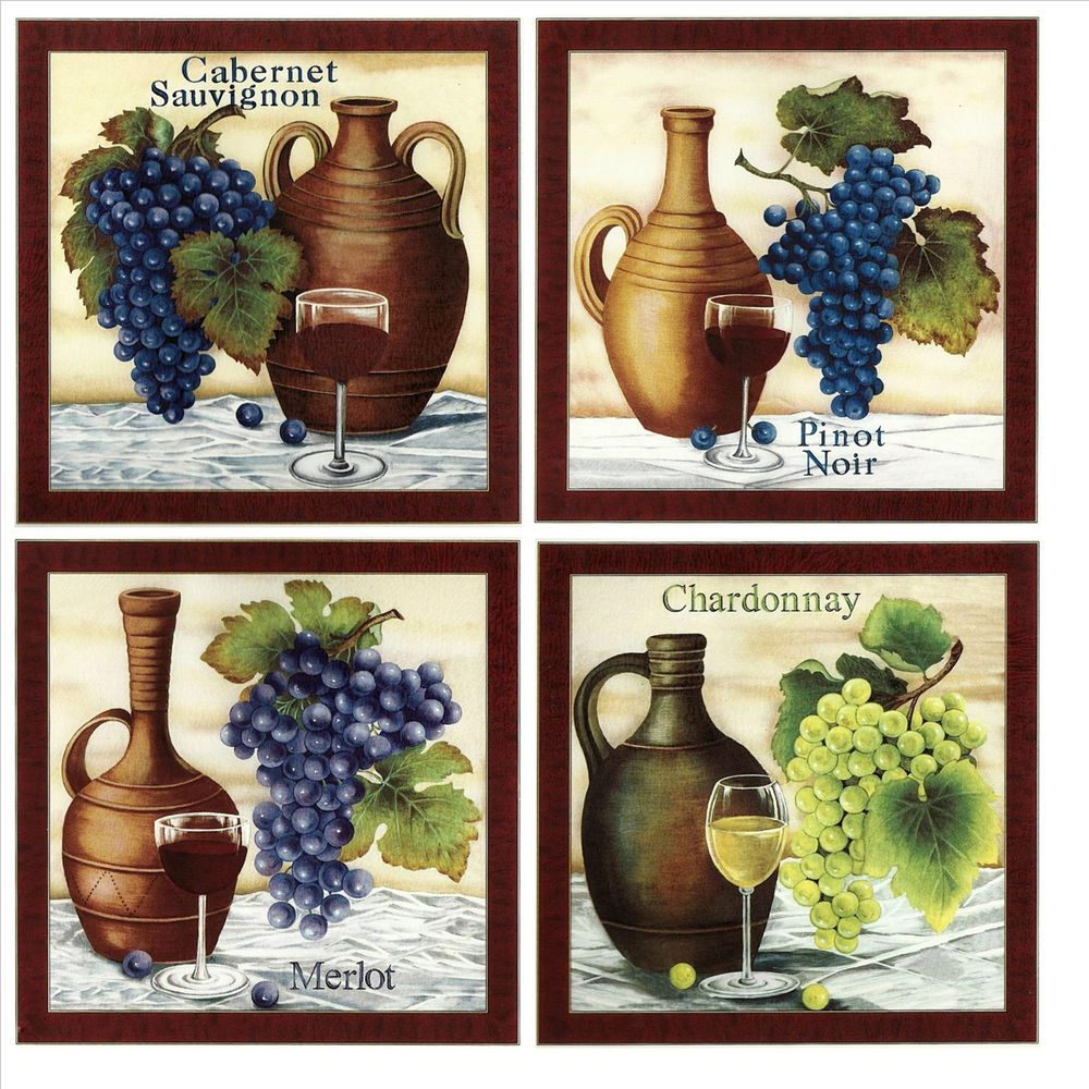 Decorative Tiles Uk Inspiration Grapes & Wine Tile Ceramic Accent Wall Tile Decorative Tile Made Review