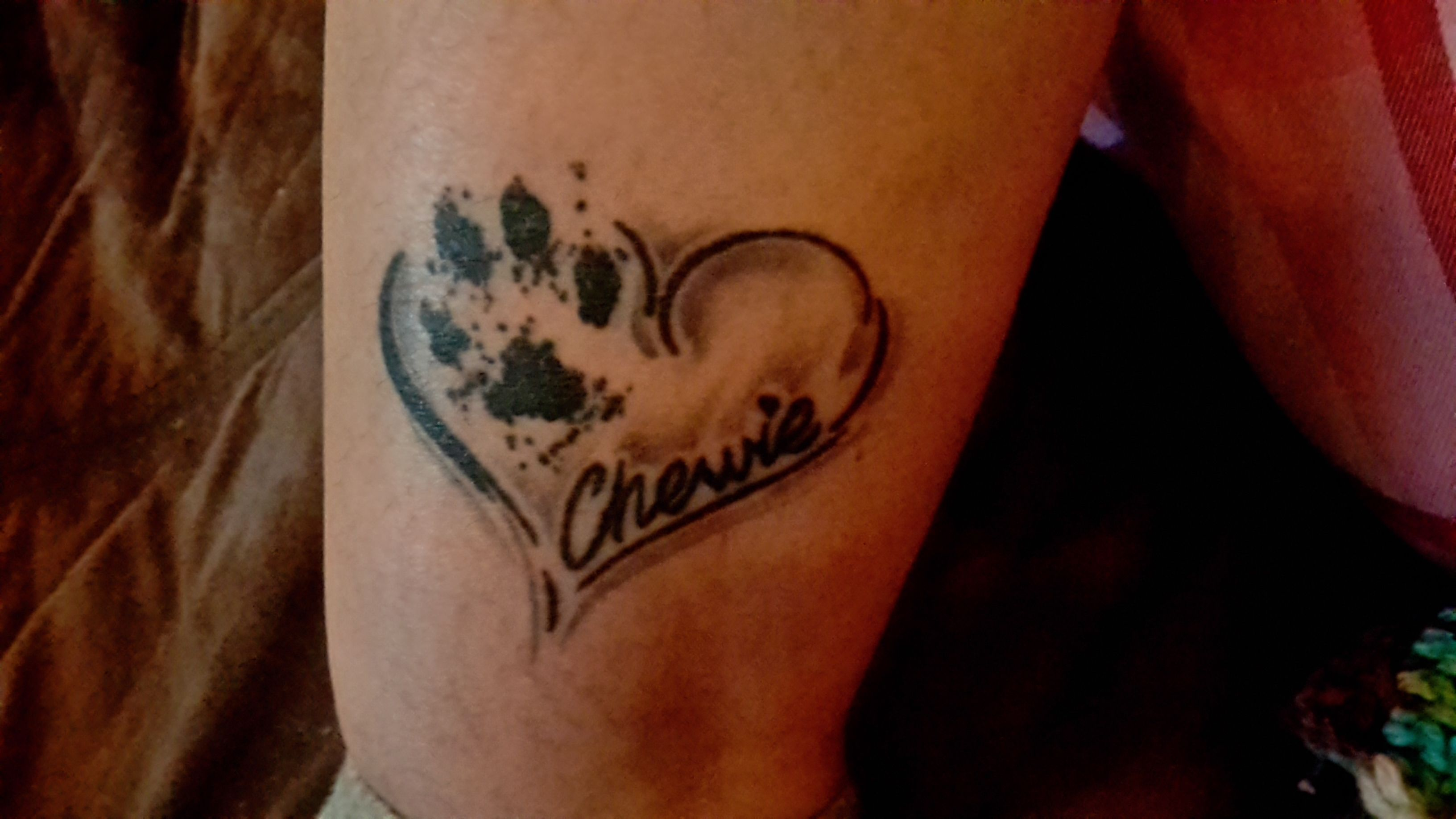 My first tattoo in loving memory of my first dog for Tattoos in remembrance of dog