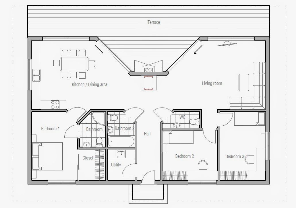 Small beach cottages floor plans thefloors co for Beach cabin designs
