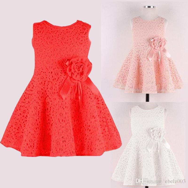 Cheap Girls Party/Wedding Dresses Cute Baby Girl Clothes Lace ...