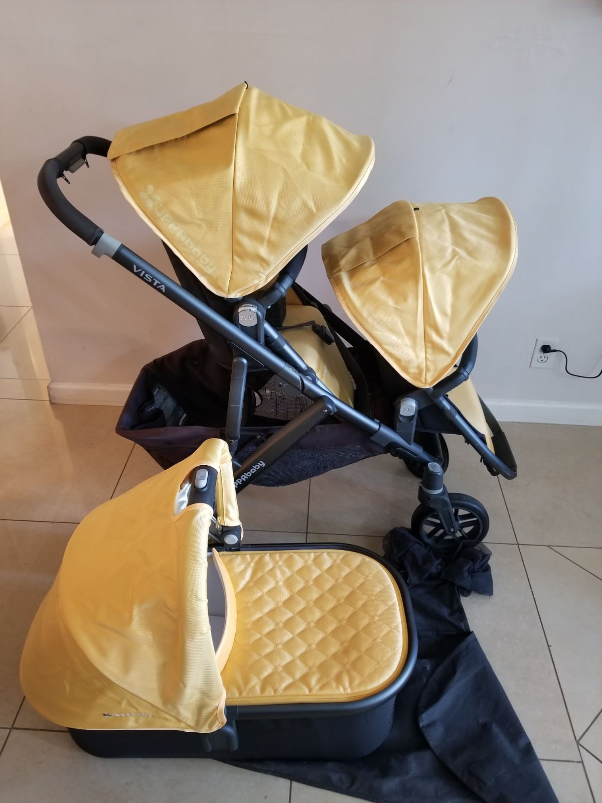 GUC uppababy vista double stroller with in color