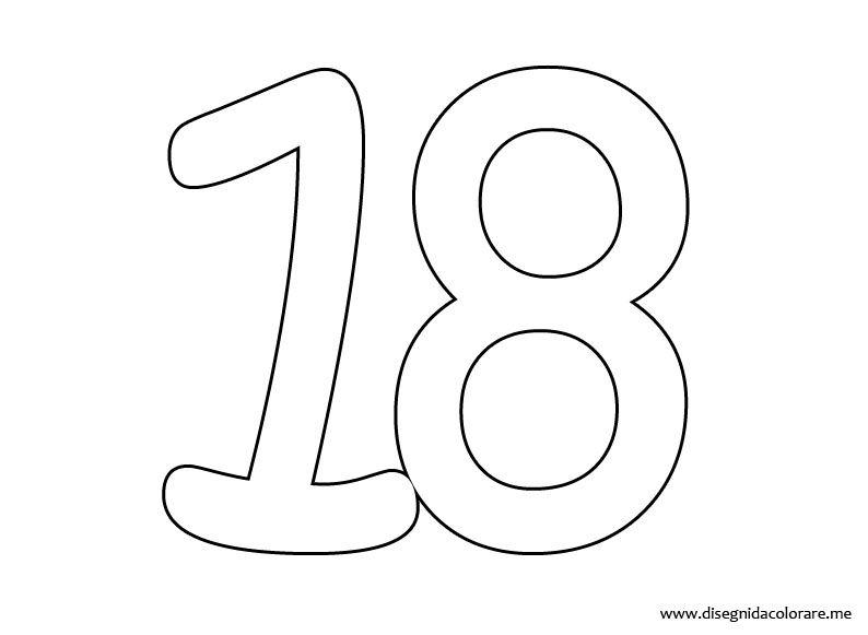 Número 18 Colouring Pages Ideas Para Cumpleaños Color Coloring