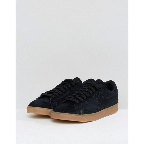 online for sale low price sale hot product Nike Blazer Low Trainers In Black Suede With Gum Sole ($115 ...