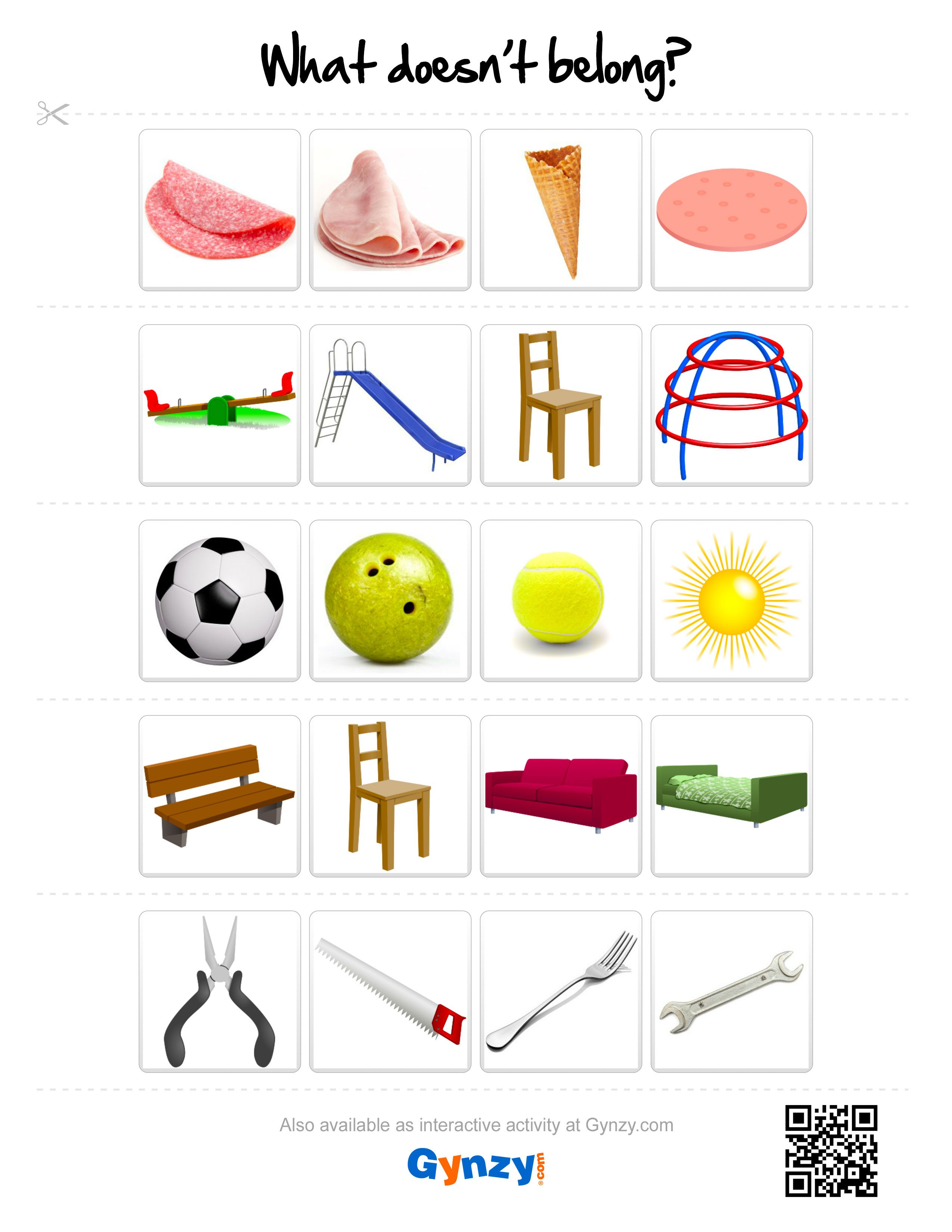 image regarding Printable Aphasia Worksheets identify Pin as a result of Instructor Timo upon What Doesnt Belong? Interactive