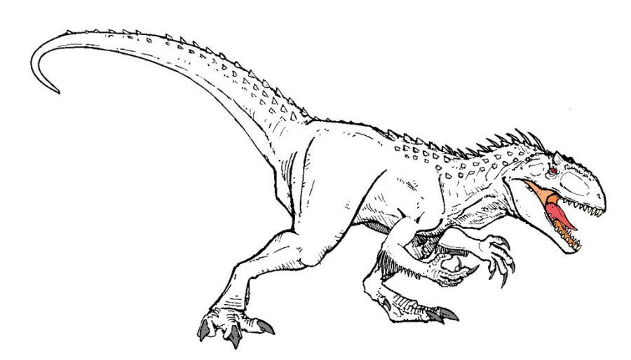 Jurassic World Indominus Rex Dinosaur Coloring Page Dinosaur