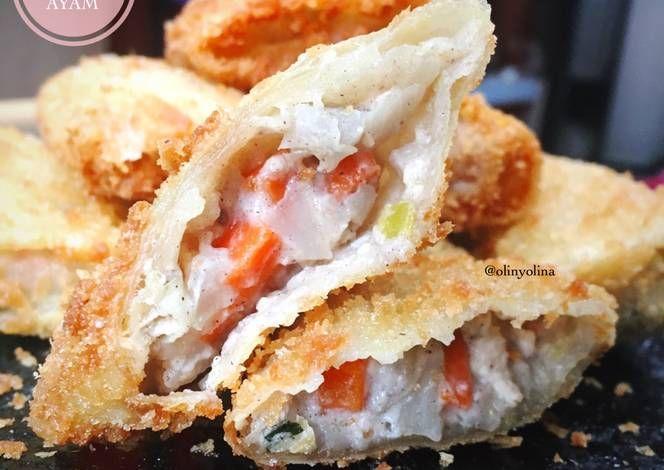 Resep Risoles Ragout Ayam Super Creamy Oleh Olinyolina Resep Makanan Resep Resep Makanan