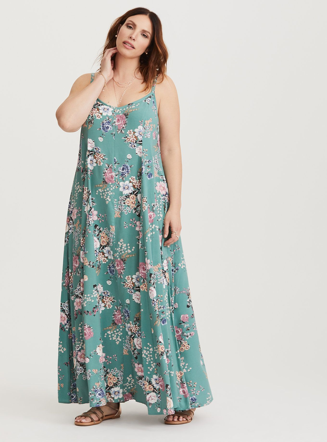 675ed007980 Plus Size Women S Clothing Baton Rouge. Plus Size Floral Trapeze Challis Maxi  Dress